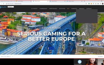 Le projet européen Citizen games s'adapte à l'heure du tout virtuel !